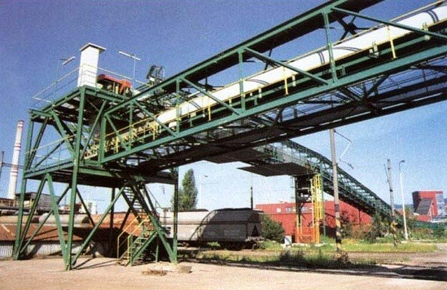 Equipment for transportation of the residue after desulphurisation